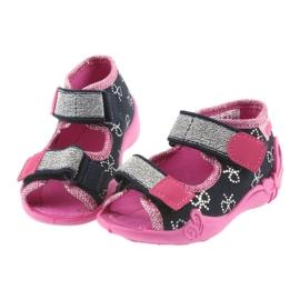 Befado obuwie dziecięce 242P089 różowe granatowe 5