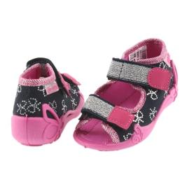 Befado obuwie dziecięce 242P089 różowe granatowe 6