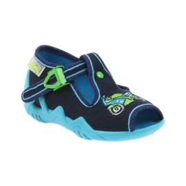 Befado obuwie dziecięce 217P095 zielone granatowe 2