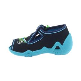Befado obuwie dziecięce 217P095 zielone granatowe 3