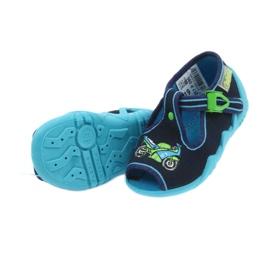 Befado obuwie dziecięce 217P095 zielone granatowe 5
