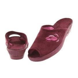 Befado kapcie buty damskie pu 581D193 klapki czerwone 4
