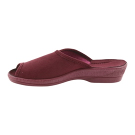 Befado kapcie buty damskie pu 581D193 klapki czerwone 2