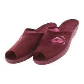 Befado obuwie damskie pu 581D193 wielokolorowe czerwone 4