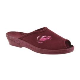 Befado obuwie damskie pu 581D193 wielokolorowe czerwone 2