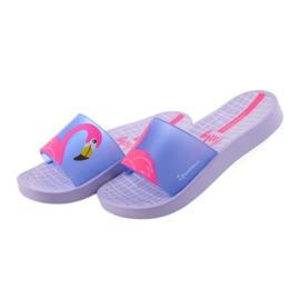 Klapki dziecięce Flaming Ipanema 26325 fioletowe niebieskie różowe 4