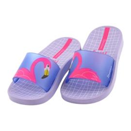 Klapki dziecięce Flaming Ipanema 26325 fioletowe niebieskie różowe 3
