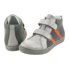 Trzewiki buty dziecięce na rzepy Ren But 4275 popiel/pomarańcz pomarańczowe szare 5