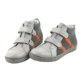 Trzewiki buty dziecięce na rzepy Ren But 4275 popiel/pomarańcz pomarańczowe szare 4