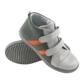 Trzewiki buty dziecięce na rzepy Ren But 4275 popiel/pomarańcz pomarańczowe szare 3