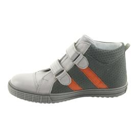 Trzewiki buty dziecięce na rzepy Ren But 4275 popiel/pomarańcz pomarańczowe szare 2