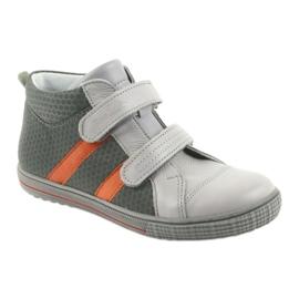 Trzewiki buty dziecięce na rzepy Ren But 4275 popiel/pomarańcz pomarańczowe szare 1