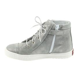 Trzewiki buty dziewczęce srebrne Ren But 4279 szare 2