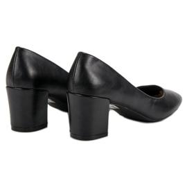 Ideal Shoes Klasyczne Czarne Czółenka 5