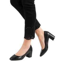 Ideal Shoes Klasyczne Czarne Czółenka 2