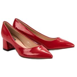 Diamantique Eleganckie Czerwone Czółenka 6