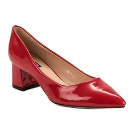 Diamantique Eleganckie Czerwone Czółenka 3