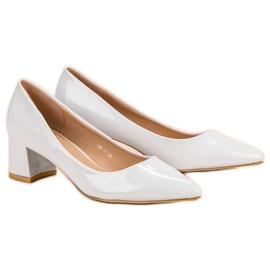 Diamantique Eleganckie Białe Czółenka 6