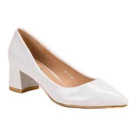 Diamantique Eleganckie Białe Czółenka 3