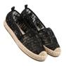 Sweet Shoes Koronkowe Espadryle czarne 3