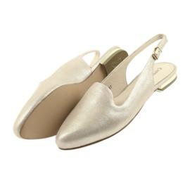 Caprice lordsy złote buty damskie 29400 żółte 4