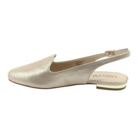 Caprice lordsy złote buty damskie 29400 żółte 2