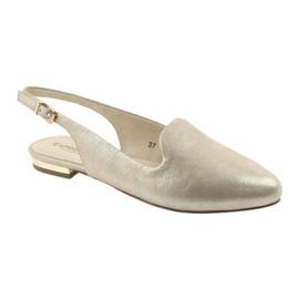Caprice lordsy złote buty damskie 29400 żółte 1