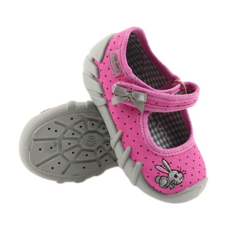 Różowe Befado obuwie dziecięce 109P169 zdjęcie 4