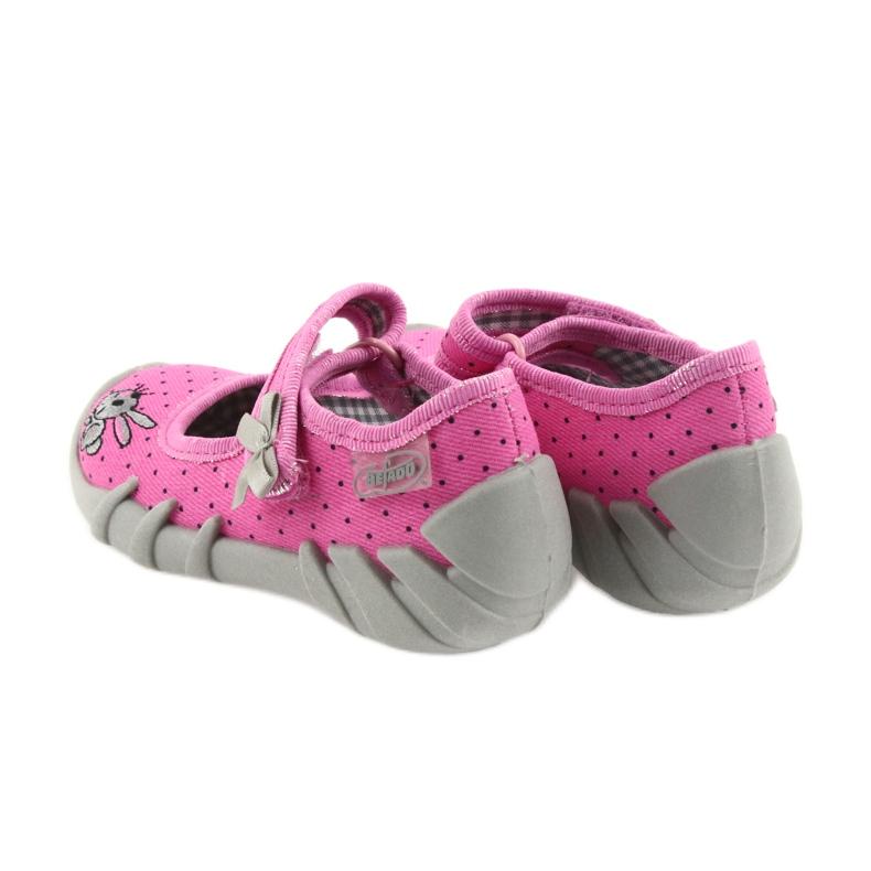 Różowe Befado obuwie dziecięce 109P169 zdjęcie 5