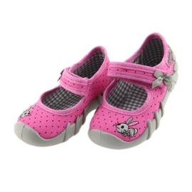 Befado obuwie dziecięce 109P169 różowe 3