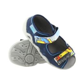 Befado obuwie dziecięce 250P077 granatowe wielokolorowe 4