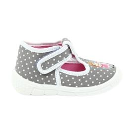 Befado obuwie dziecięce honey pu 531P006 białe szare 1