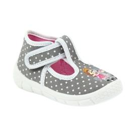 Befado obuwie dziecięce honey pu 531P006 białe szare 2