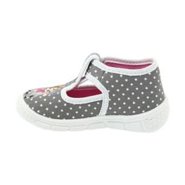 Befado obuwie dziecięce honey pu 531P006 białe szare 3