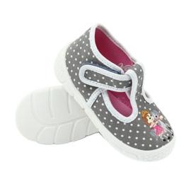 Befado obuwie dziecięce honey pu 531P006 białe szare 4
