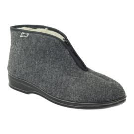 Befado obuwie męskie pu 100M047 szare 2