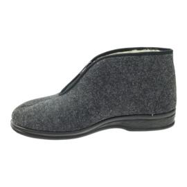 Befado obuwie męskie pu 100M047 szare 3