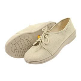 Befado obuwie męskie pu 630M007 brązowe 5