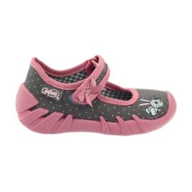 Befado obuwie dziecięce 109P168 szare różowe 2