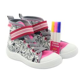 Befado obuwie dziecięce    wzór do kolorowania 268X064 wielokolorowe 5