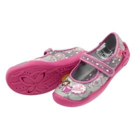 Befado obuwie dziecięce 114X305 szare różowe 6