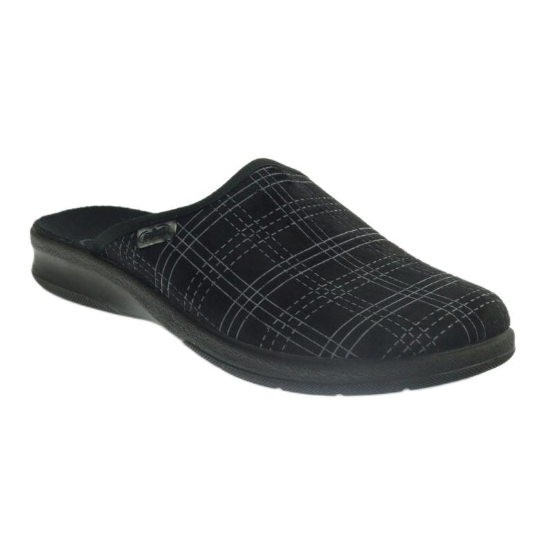 Czarne Befado obuwie męskie pu 548M011 zdjęcie 2