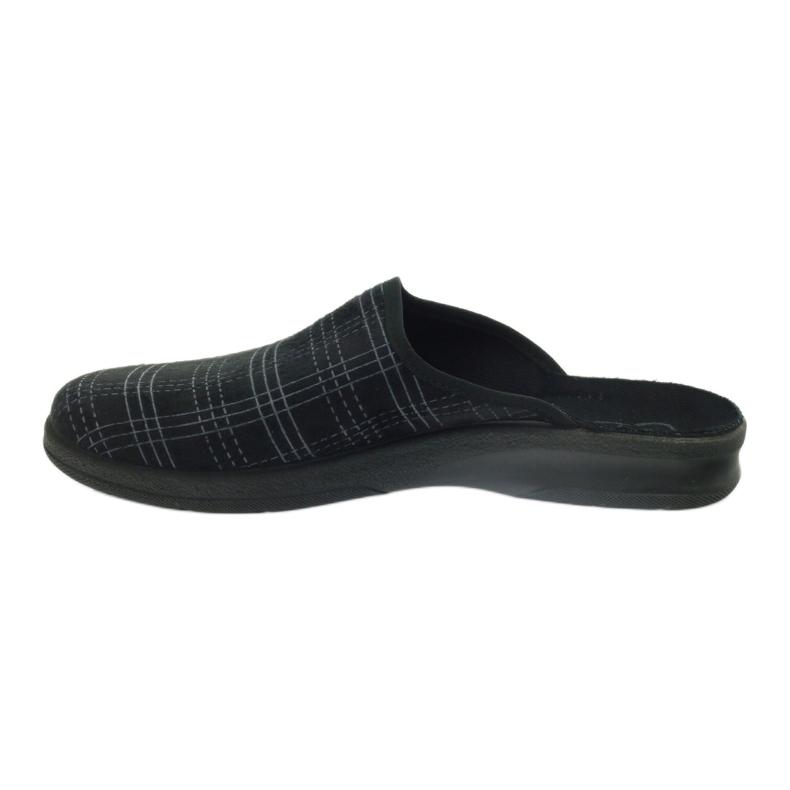 Czarne Befado obuwie męskie pu 548M011 zdjęcie 3