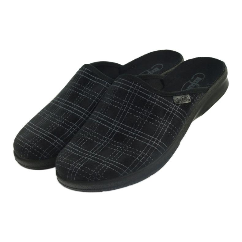Czarne Befado obuwie męskie pu 548M011 zdjęcie 4