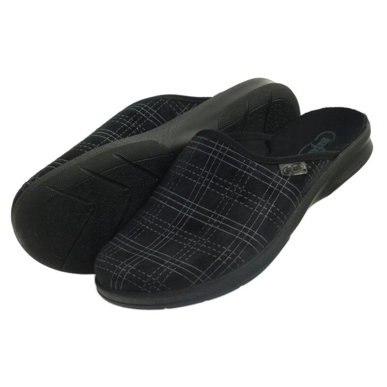 Czarne Befado obuwie męskie pu 548M011 zdjęcie 5