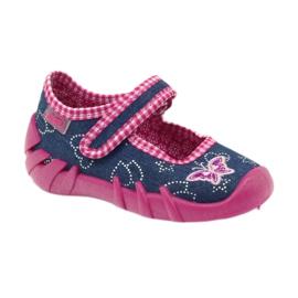 Befado obuwie dziecięce 109P164 niebieskie różowe 2
