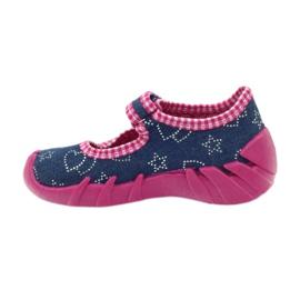 Befado obuwie dziecięce 109P164 niebieskie różowe 3