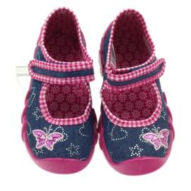 Befado obuwie dziecięce 109P164 niebieskie różowe 4