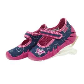 Befado obuwie dziecięce 109P164 niebieskie różowe 5