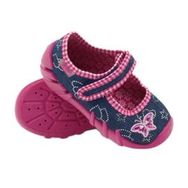 Befado obuwie dziecięce 109P164 niebieskie różowe 6